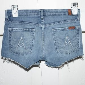 - 7 for all mankind womens cut off shorts si…